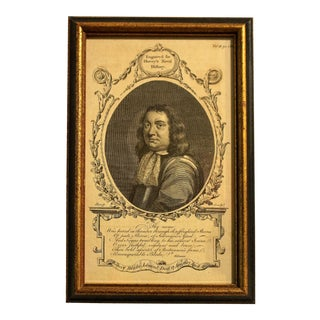 """18th Century Print """"Admiral Robert Blake, the Naval History of Great Britain"""" by Frederic Hervey For Sale"""