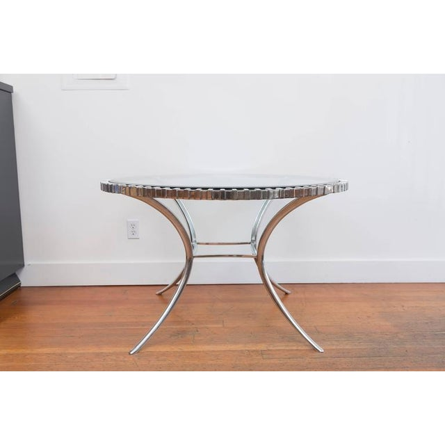 Contemporary Thinline Polished Aluminum Klismos Table For Sale - Image 3 of 9