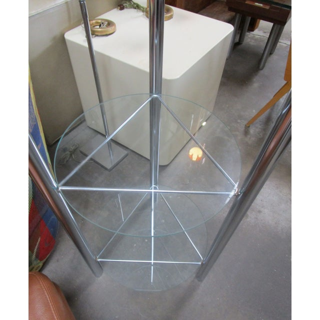 Mid-Century Chrome Etagere with Triangular Shelves For Sale - Image 4 of 4