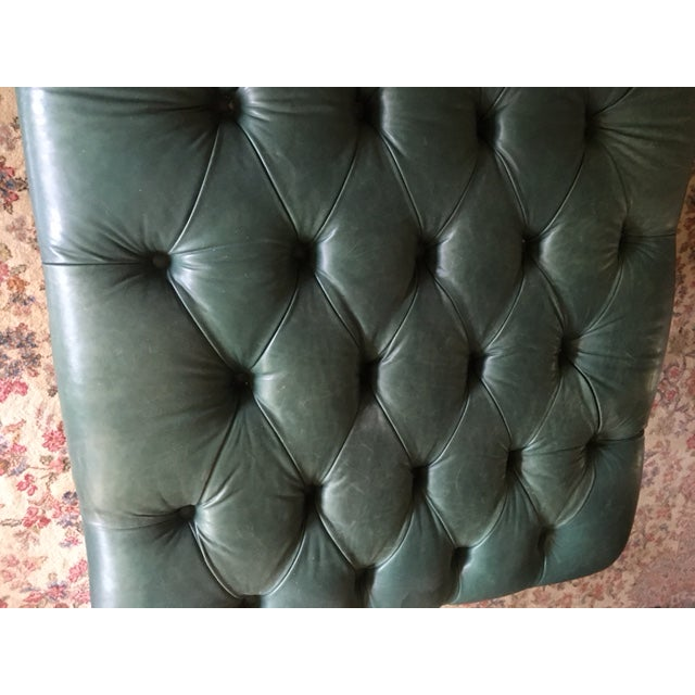 Outstanding Century Furniture Green Leather Tufted Ottoman Alphanode Cool Chair Designs And Ideas Alphanodeonline