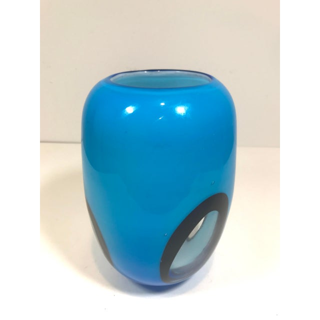Authentic Murano glass vase. I personally purchased this on a trip to Venice, Murano, and Burano. Hand blown glass in a...