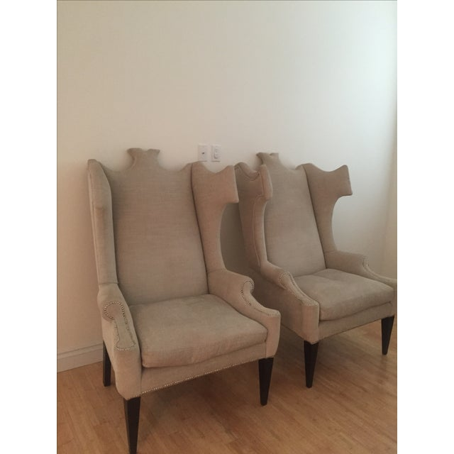 Andrew Martin Beetle-Back Chairs For Sale - Image 4 of 5