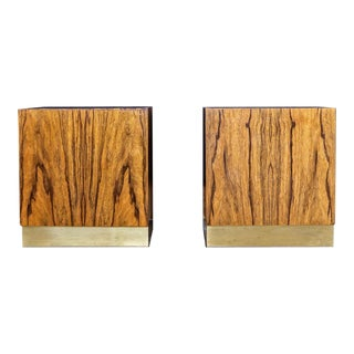 1970s Mid-Century Modern Milo Baughman for Thayer Coggin Nightstands - a Pair For Sale