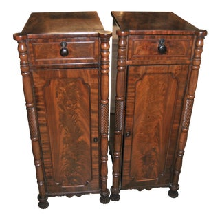 19th Century English Mahogany Pedestals/Cabinets/Cupboards - a Pair For Sale