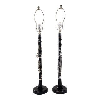 Clarinet Musical Instrument Lamps - A Pair