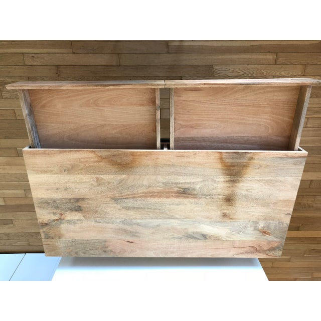 West Elm Industrial Storage Desk For Sale In New York - Image 6 of 9