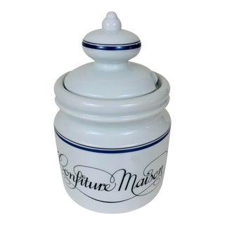 Porcelain d'Auteuil French Bistro Jam Jar For Sale