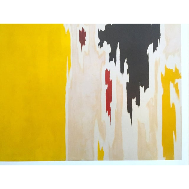 """Yellow Clyfford Still Abstract Expressionist Lithograph Print Poster """"Ph - 1074"""", 1956 For Sale - Image 8 of 11"""