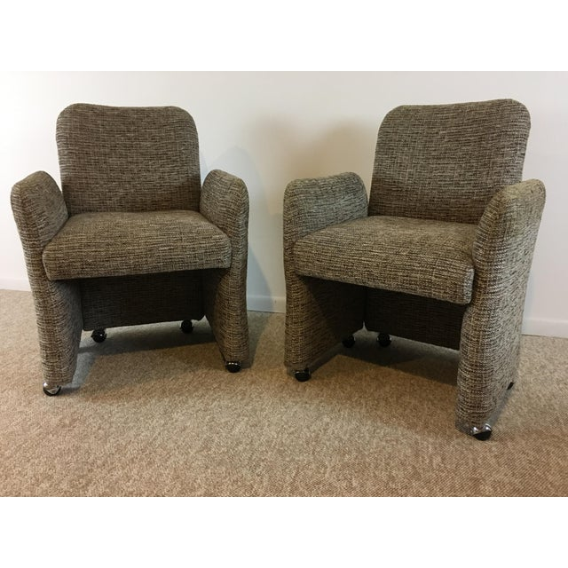 Vintage Tweed Accent Chairs - A Pair - Image 2 of 9