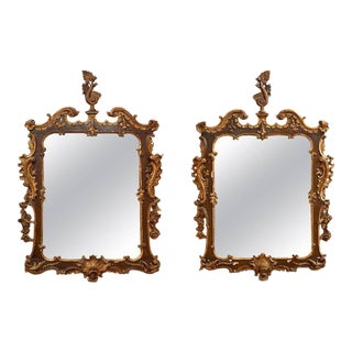 Pair of Early 19th Century Continental Rococo Mirrors