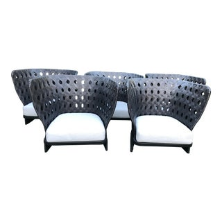 B&b Italia Canasta Arm Chairs- Set of 5 For Sale