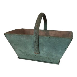 Early 20th Century Painted Wood Carrier With Handle For Sale