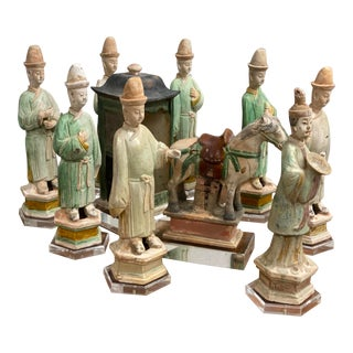 15th Century Ming Dynasty Processional Figures - Set of 10 For Sale