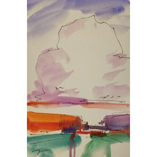 Jose Trujillo Artist Collectible Original Watercolor Painting Study Med. For Sale