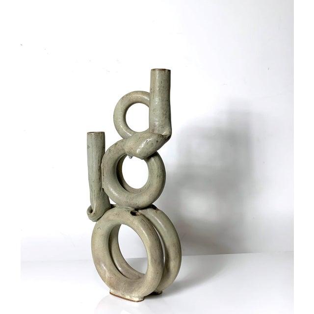 1970s 1970s Vintage Tubular Studio Pottery Signed Vase For Sale - Image 5 of 11