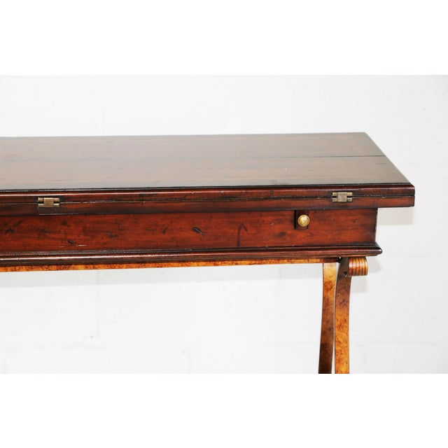 Stanley Villette Flip Top Console Table For Sale In Baltimore - Image 6 of 8