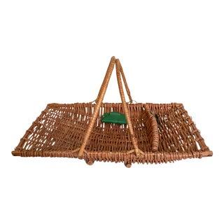 English Trug Basket by Sirram For Sale