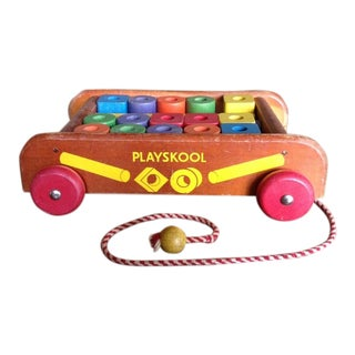 Playskool Col-O-Rol Wagon Block Set For Sale