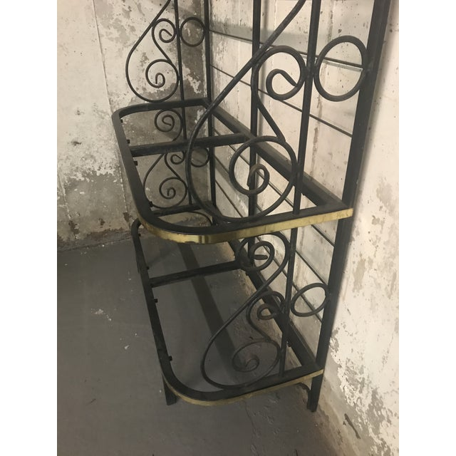 20th Century Contemporary Iron Bakers Rack For Sale - Image 4 of 5