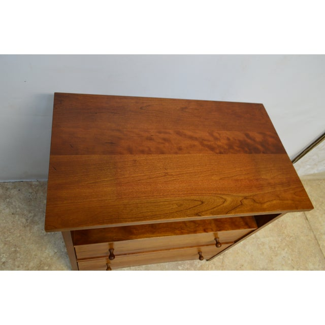 Americana Stickley Bedside End Side Table Nightstand For Sale - Image 3 of 12