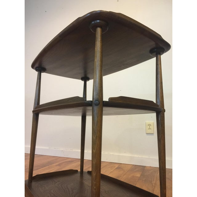 Mid-Century Solid Wood Bar Cart For Sale - Image 10 of 11