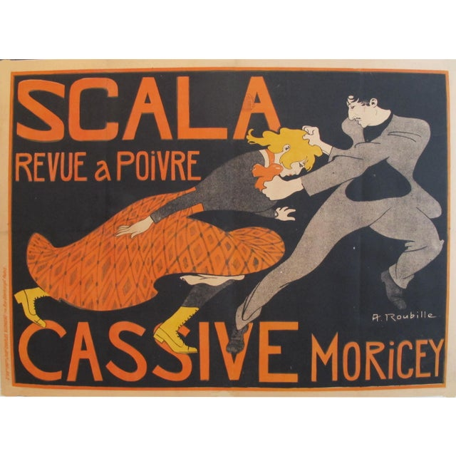 1903 French Belle Epoque Poster, Revue a Poivre For Sale - Image 6 of 6