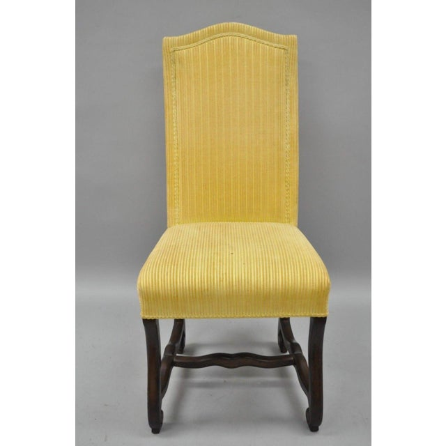 Early 20th Century Walnut Os De Mouton Louis XIV French Style Upholstered Dining Chairs- Set of 10 For Sale - Image 11 of 12