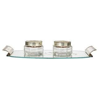Art Deco Mirror Vanity Tray & Jars, Set of 3 Preview