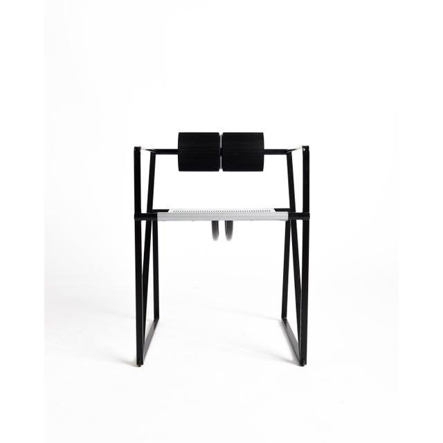 Mario Botta Seconda 602 Chair in the rare black & steel color-way.