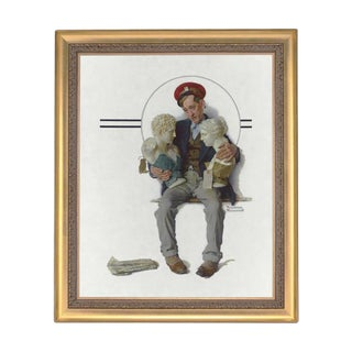 Delivering Two Busts by Norman Rockwell