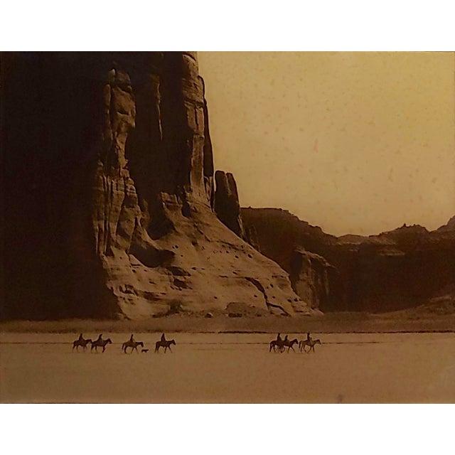 Edward Curtis -Navajo Canyon De Chelly -1904 Original Orotone-Rare For Sale - Image 4 of 9