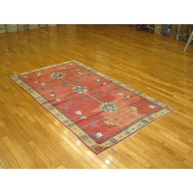 Vintage Hand Knotted Tribal Rug - 4′ × 7′1″ For Sale - Image 7 of 7