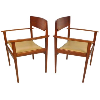 Teak Arm Chairs by Grete Jalk
