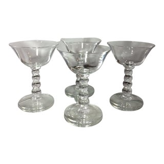 Vintage Imperial Candlewick Champagne Coupes - Set of 4