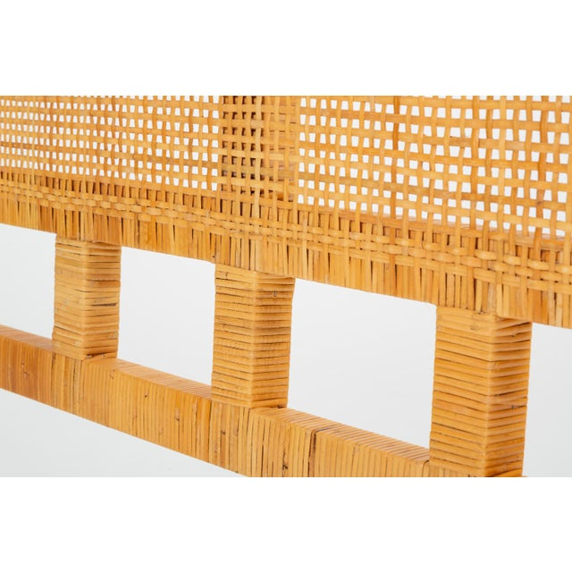 1960s Single Woven Cane Twin Headboard by Danny Ho Fong for Tropi-Cal For Sale - Image 5 of 10