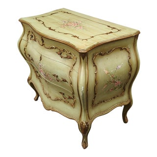 Antique French Louis XV Style Venetian Painted Commode For Sale