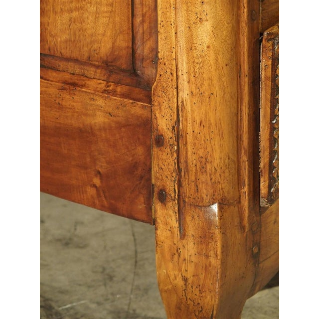 French Walnut Wood Commode From Lyon, Circa 1750 For Sale - Image 9 of 13