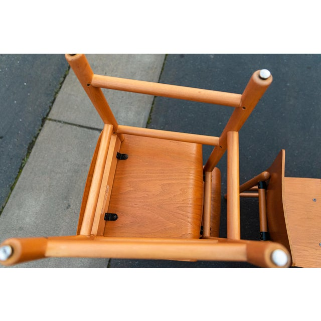 Vintage Modern Moulded Plywood Chairs - Set of 8 For Sale - Image 9 of 11