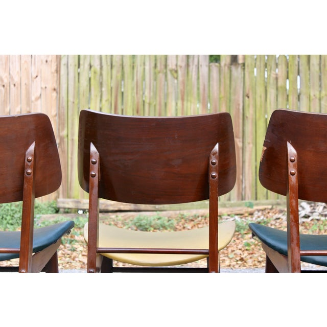 Mid-Century Modern Clam Shell Chairs - Set of 3 - Image 5 of 8