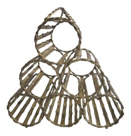Image of Brass Wine Racks