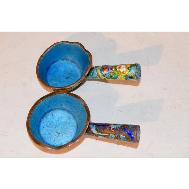 Pair of 19th Century Chinese Enameled Ladles For Sale - Image 4 of 7