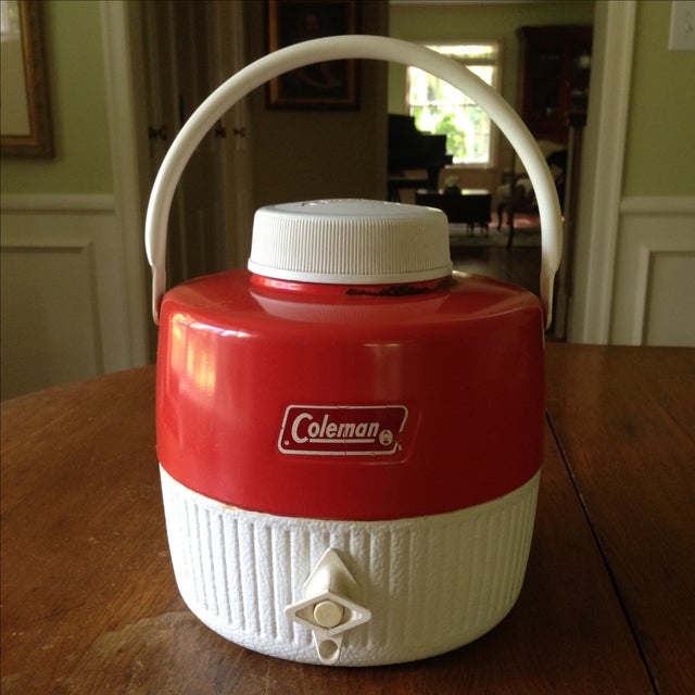 Vintage Red Metal & Plastic Coleman Cooler - Image 2 of 11