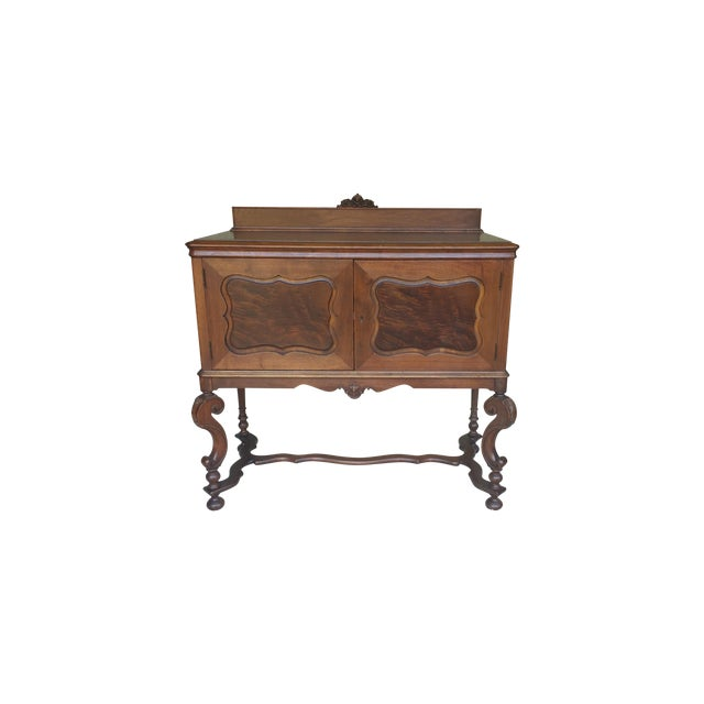 Antique Serpentine Sideboard Buffet - Image 1 of 10
