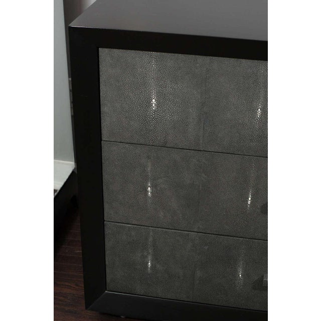 Contemporary Custom Shagreen Drawer Front Dressers For Sale - Image 3 of 5