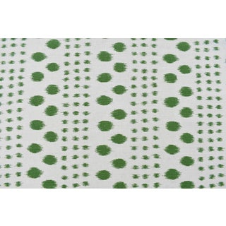 Virginia Kraft Polkat Fabric,Sample in Forest For Sale