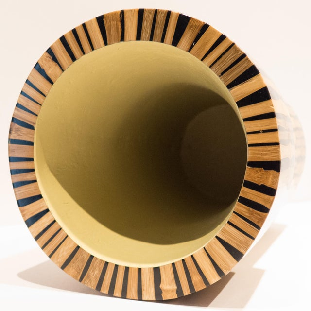 1990s R & Y Augousti Bamboo Vase For Sale - Image 5 of 7