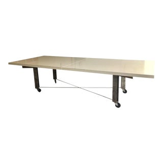 Architect James D'auria Industrial Dining or Conference Table For Sale