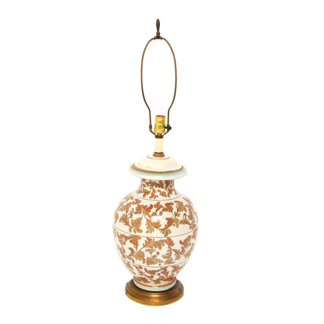 Faience Style Ceramic Urn Table Lamp - Image 1 of 6