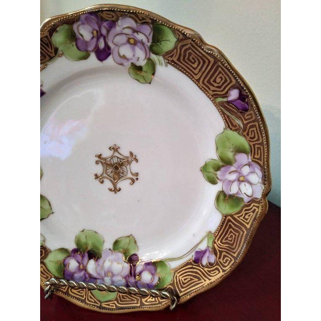 19th Century French Limoges Art Deco Plate For Sale In Columbus - Image 6 of 10