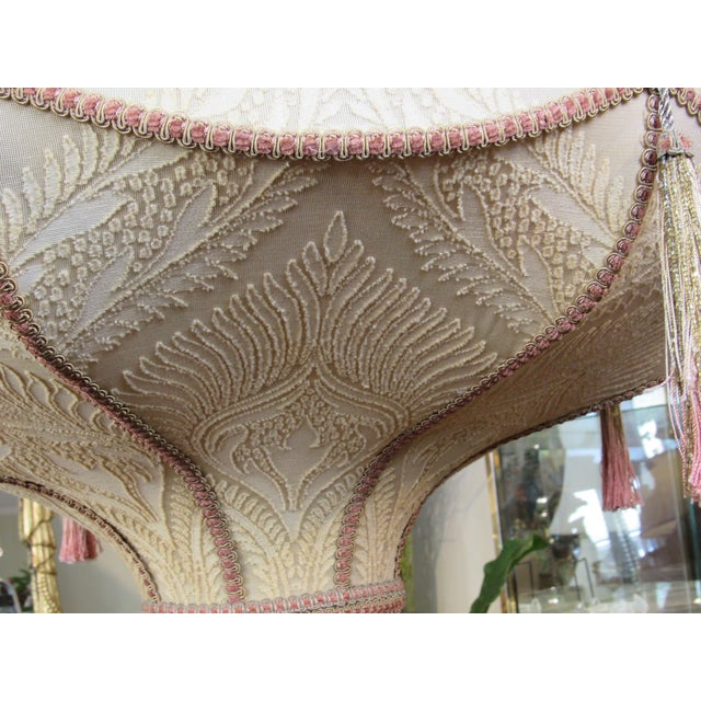 Fortuny Style Art Deco Fabric Chandelier For Sale - Image 12 of 13